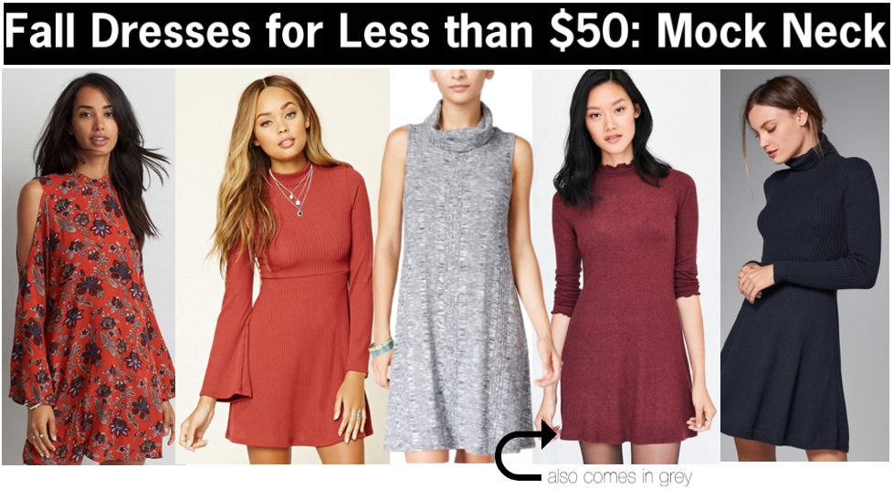 mock neck dresses for less than $50 | mock neck dresses for fall | cute dresses to wear this fall | a memory of us | fall dresses for cheap