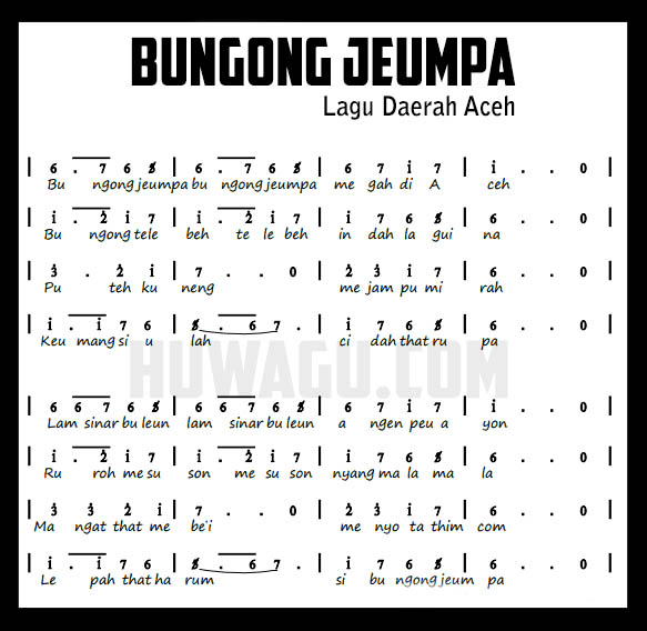 The Meaning Of Traditional Song Bungong Jeumpa