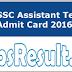 Bihar SSC Assistant Teacher Admit Card 2016 Hall Ticket Exam Date