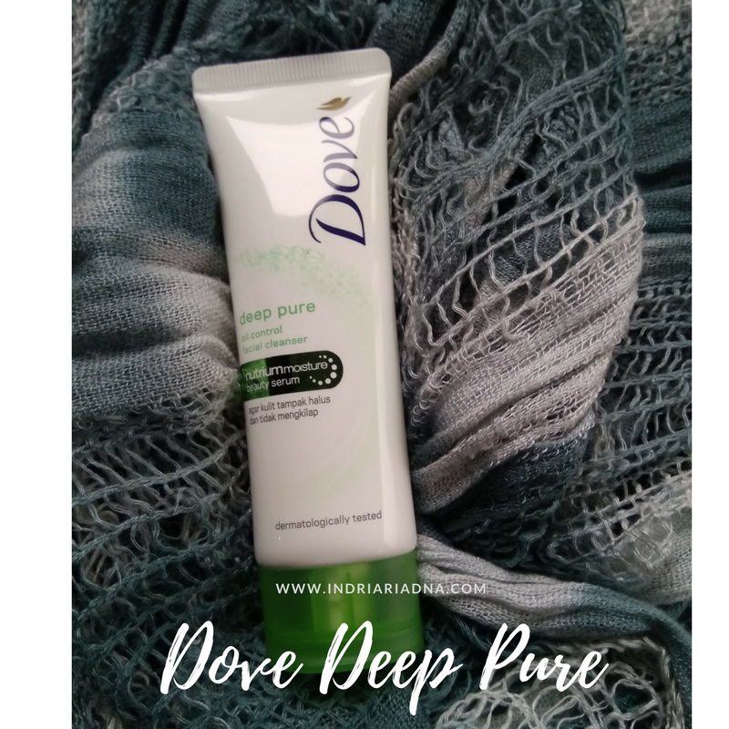 dove deep pure facial foam