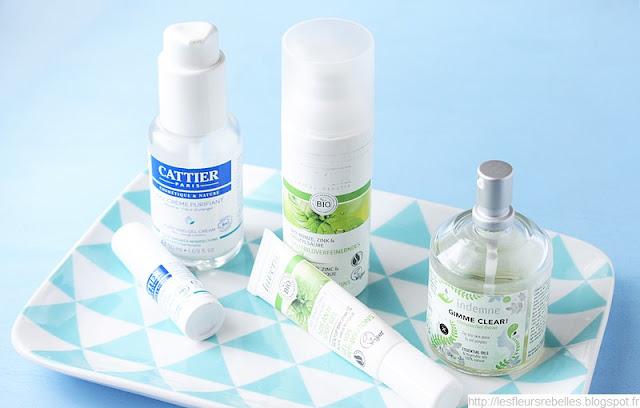 Soins anti-acné bio Cattier, Lavera et Indemne