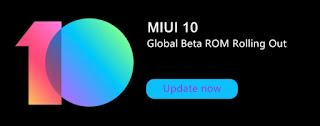 ROM MIUI 10 Global beta 8.11.1