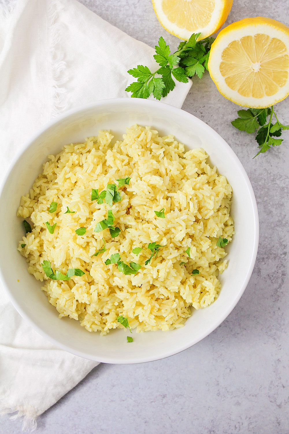 This zesty and flavorful lemon rice is so quick and easy to make in the Instant Pot. It's the perfect side dish!