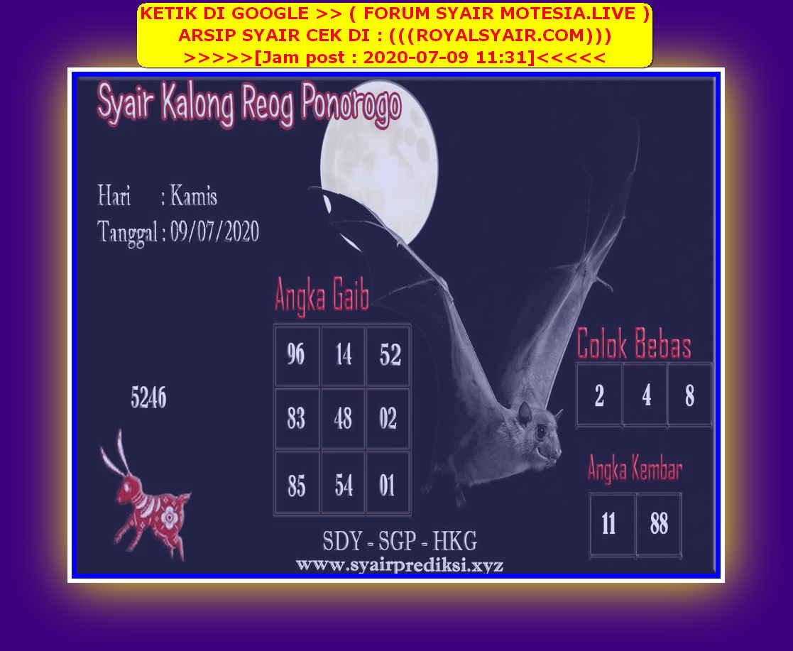 Kode syair Hongkong Kamis 9 Juli 2020 213