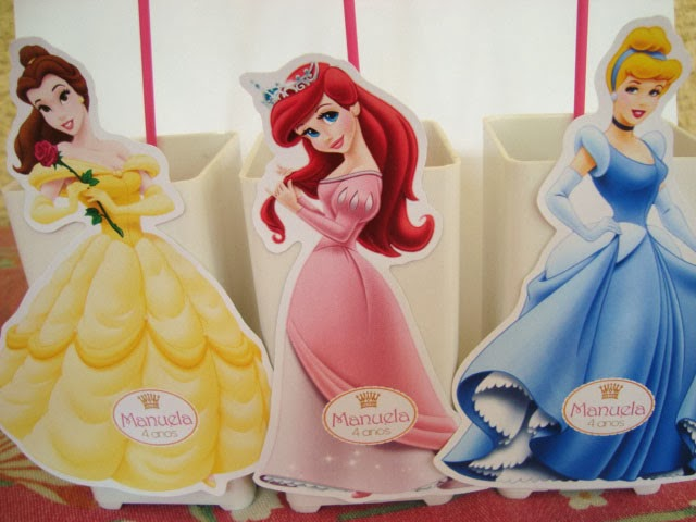 enfeite de mesa princesas disney