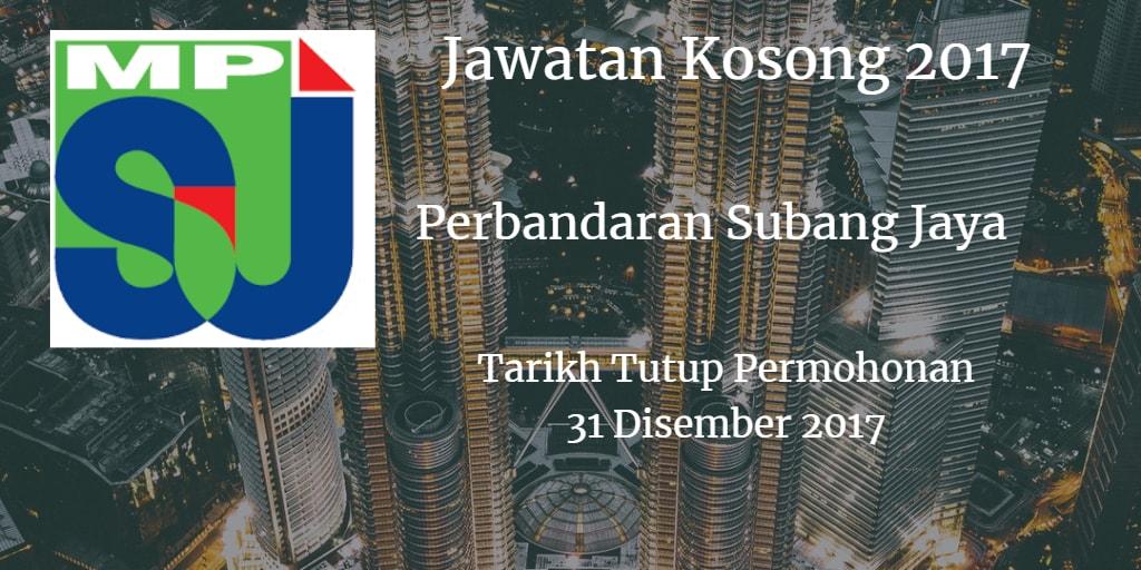 Jawatan Kosong MPSJ 31 Disember 2017