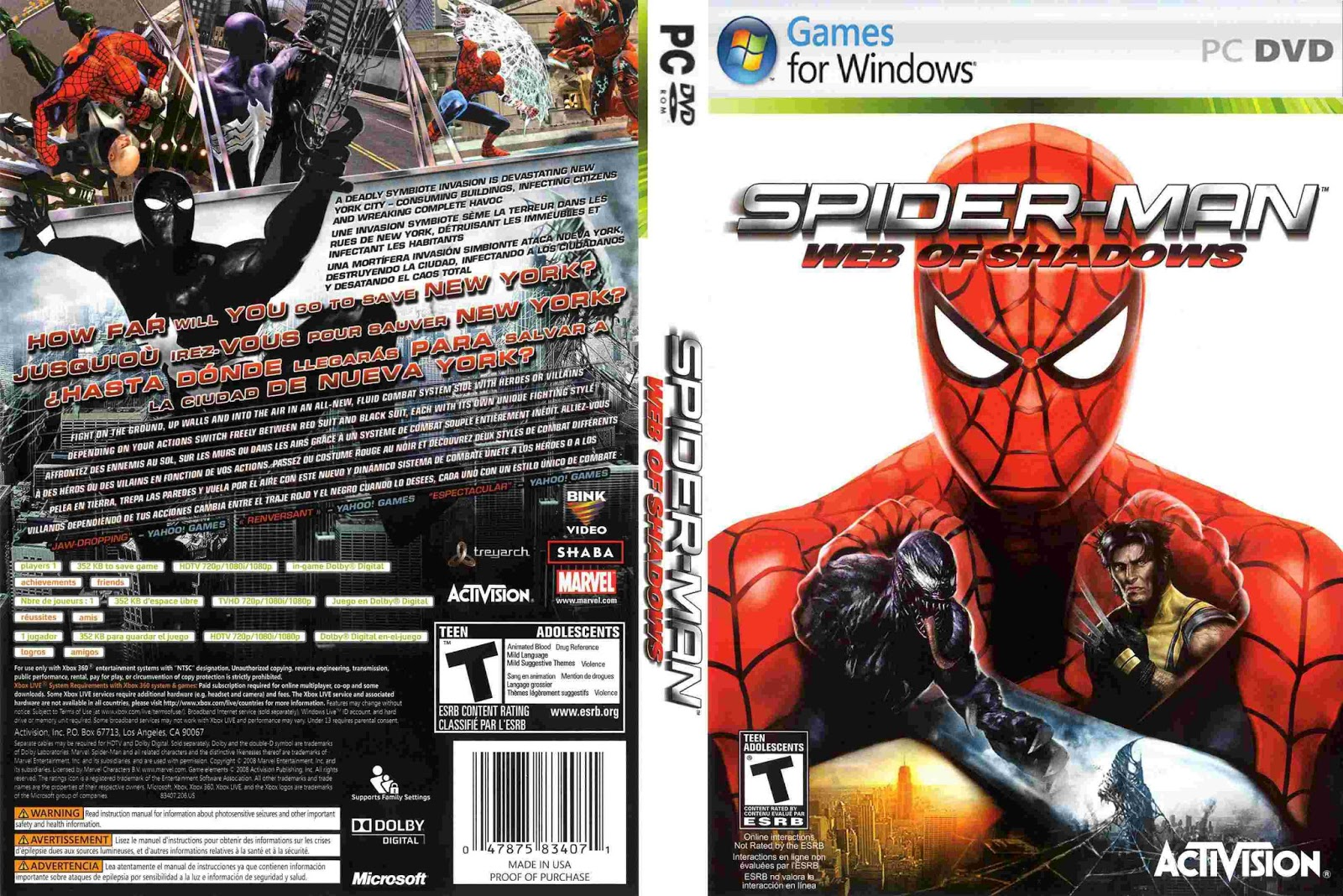 Spider-Man Web of Shadows Free Download - CroHasIt ...