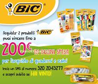 Logo Con BIC puoi vincere i buoni per la scuola da 50, 100 e 200 €