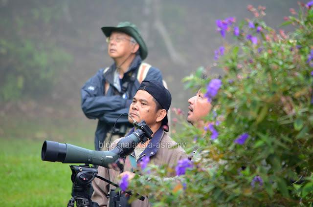 Birdwatchers in Sarawak