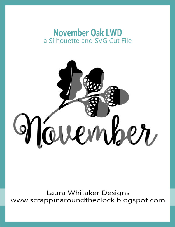 November Oak | Free Digital Cut File