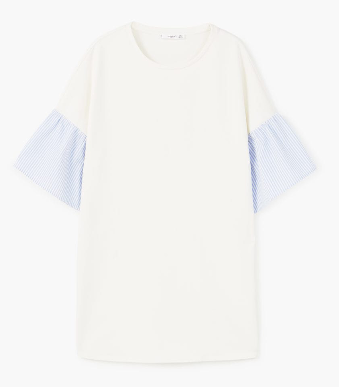 Buy Mango Dress with ruffled sleeves