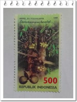 prangko buah kepel yogyakarta tahun 1998