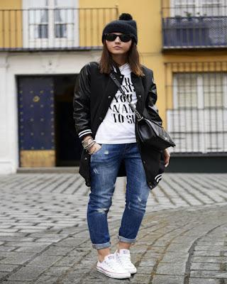 outfits con converse blancas
