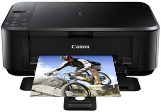 big black box with a flatbed scanner located at the top and front panel cover that folds  Canon MG3150 Driver Printer Download