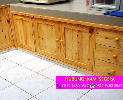 Jasa Pembuatan Kitchen Set Bahan Jati Belanda Cibinong 0812 9480