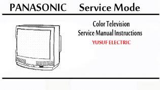 Service Mode TV PANASONIC Berbagai Type.