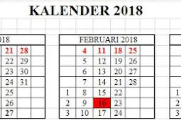 Kalender Pendidikan Tahun Ajaran 2018/2019 semua jenjang Pendidikan