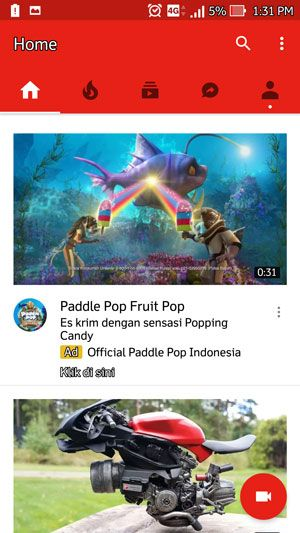 Youtube Ads on Android