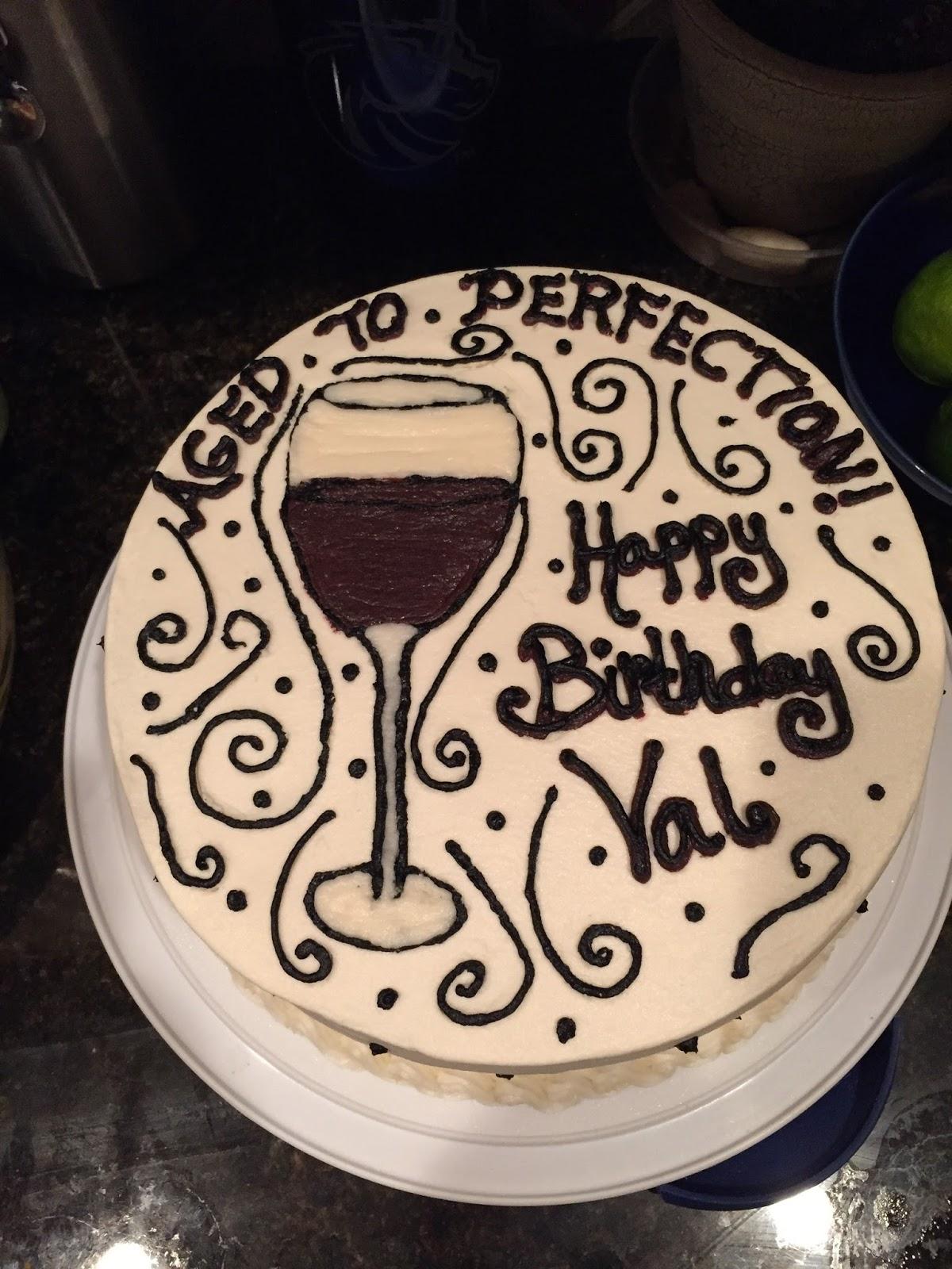 Cats Cake Creations Wine Glass Birthday Cake
