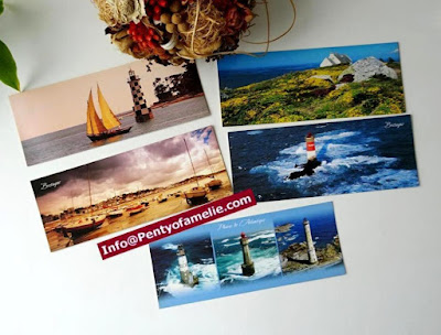 very nice long postcards colorful littoral seashore old sailing with famous lighthouses scenes
