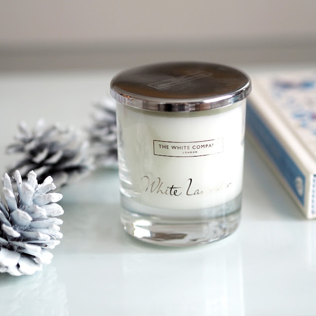 The White Company White Lavender candle