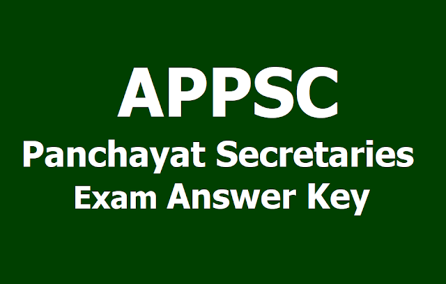 APPSC Panchayat Secretaries Answer key