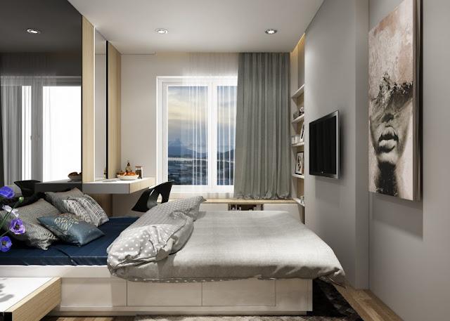 Thiết kế chung căn hộ Sơn Trà Ocean View 2 phòng ngủ - Phòng ngủ chính