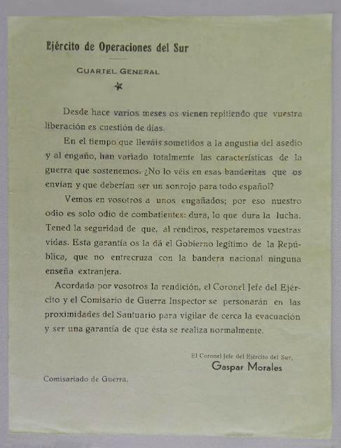 Panfleto Gobierno de la República Española