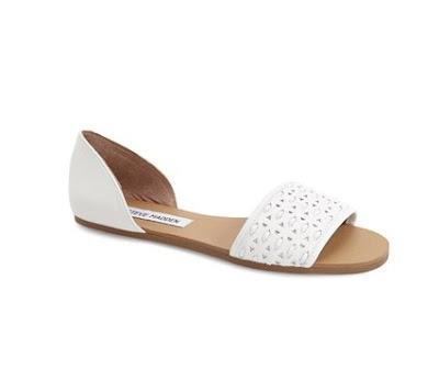 Steve Madden Taylerr White flat d'orsay sandals