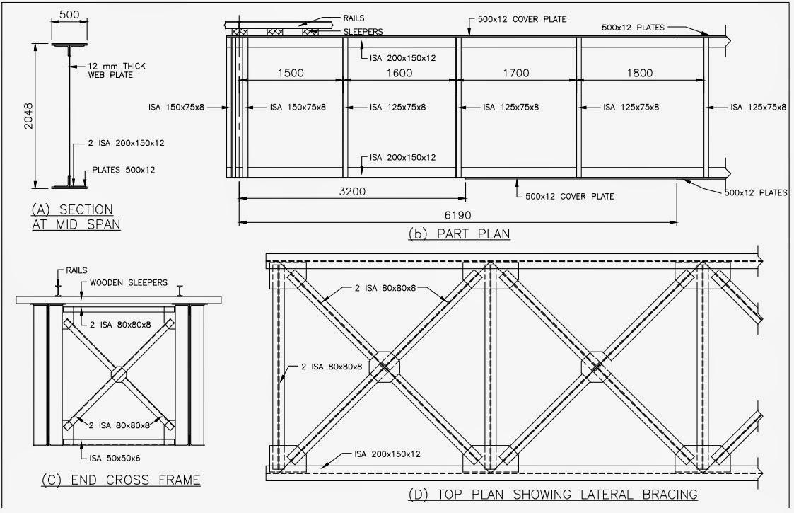 Design a deck type plate girder railway bridge for single