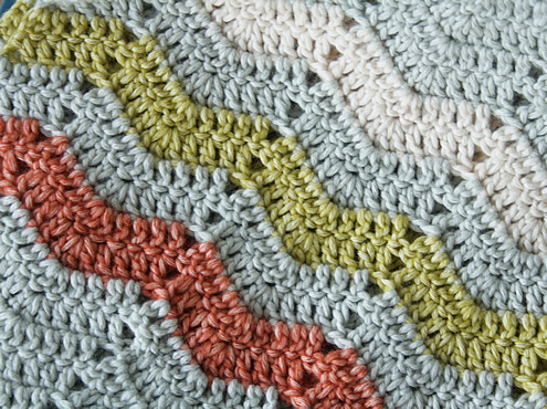 Crochet blanket: a ripple stitch in StonewashedXL | Happy in Red