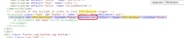 HTML mobile='no' kodu