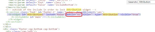 HTML mobile='no' kodu