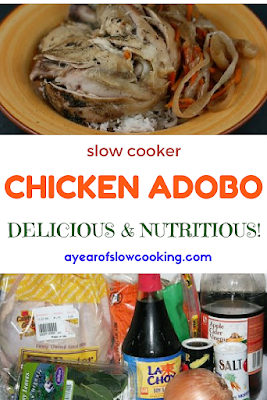 Chicken Adobo is a fun tangy dish that is easy to make at home. This fun and different twist on chicken is sure to make everyone in your family happy! Uses vinegar, soy sauce, shredded carrot, and onion.