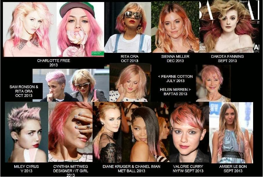 Spring Summer 2014 IT Look, Hair Color, Hair Cut, Style Trends, Pink hair celebrities