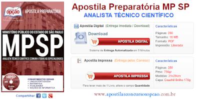 Apostila Preparatória Concurso Público Ministério Público - SP