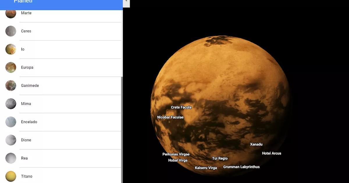 Esplorare i pianeti in Google Maps - Navigaweb.net
