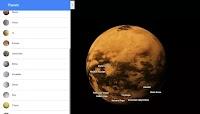 Esplorare i pianeti in Google Maps
