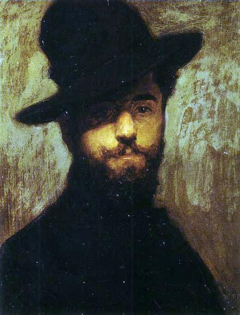 Manuel Benedito Vives, Portraits of Painters, self Portraits, Benedito Vives, Fine Arts, Manuel Benedito