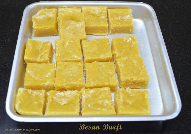 Besan Flour Burfi Recipe