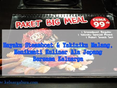 Hayaku Steamboat & Yakiniku Malang, Menikmati Kuliner Ala Jepang Bersama Keluarga.