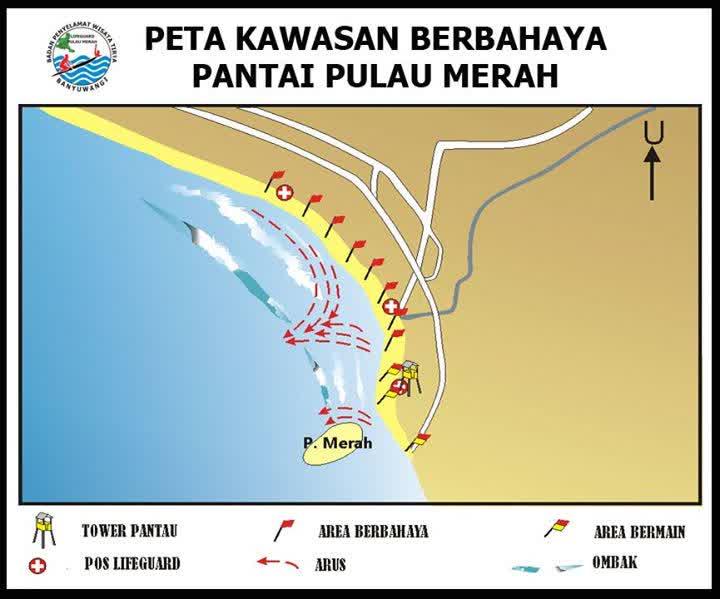 Pantai Pulau Merah  Red Island    Destinasi Wajib Di