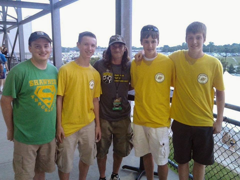 Look who the boys found at the Crew game!