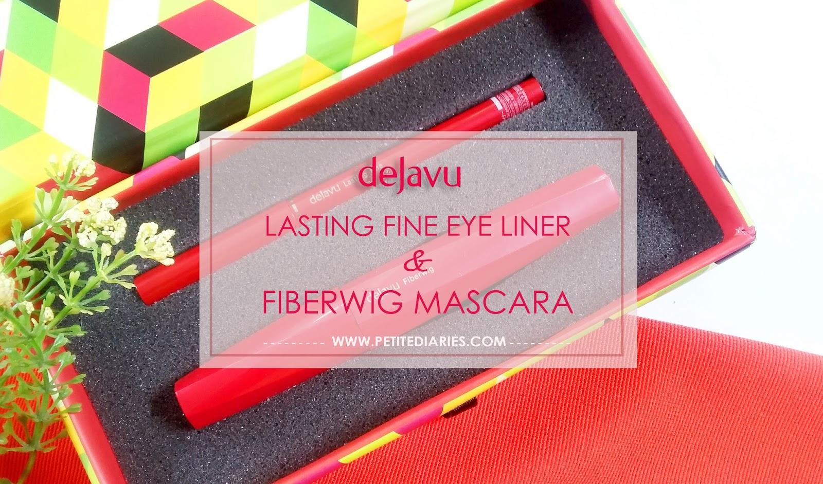 dejavu lasting fine eyeliner fiberwig mascara japan review