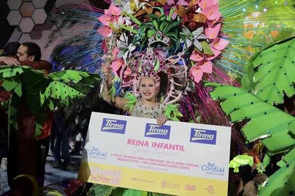 El Carnaval de Las palmas de gran Canaria 2017 ya tiene Reina Infantil, Paula de Castro