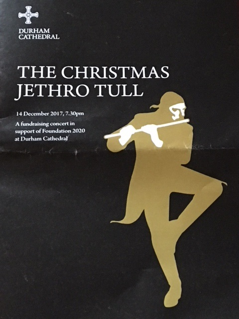 Christmas At The Cathedral 2020, December 14 bebop spoken here: Christmas Jethro Tull @ Durham Cathedral