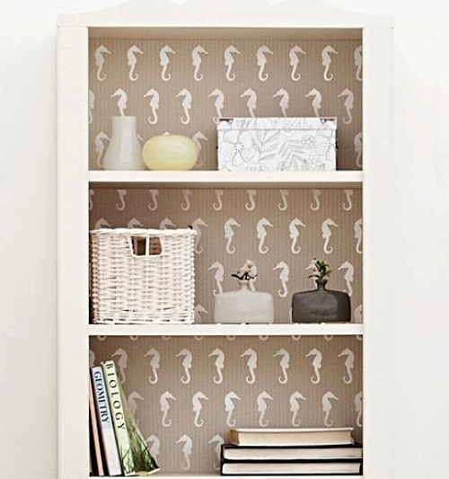 Stencil Makeover Bookcase