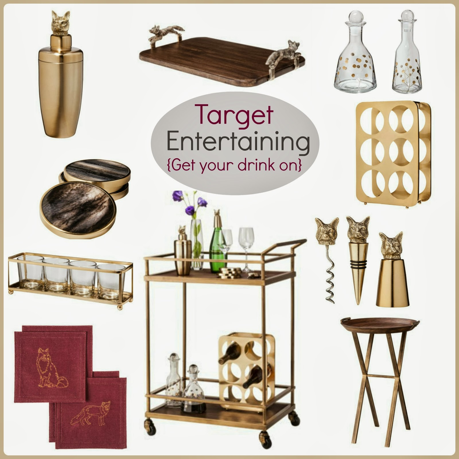 1738700419ba7 Tracy s Notebook of Style  Target Entertaining - Chic Bar Cart and  Accessories