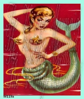 sexy pinup girl mermaid