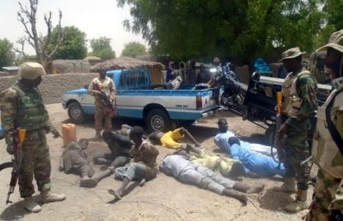 Troops Capture 9 Insurgents, Kill 3, Recover Guns, Machetes, Motorcycles